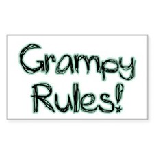 Grampy Rules! Rectangle Decal