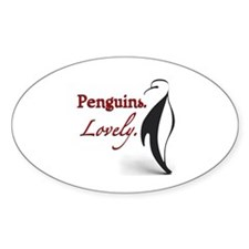 Penguins. Lovely. Oval Bumper Stickers
