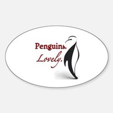 Penguins. Lovely. Oval Decal