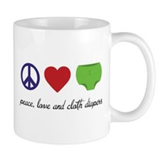Peace, Love and Cloth Diapers Mugs