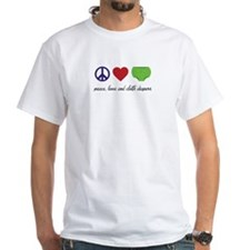 Peace, Love and Cloth Diapers T-Shirt