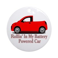 Battery Powered Car Ornament (Round)