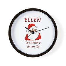 Ellen Christmas Wall Clock