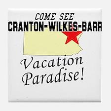 Come See Scranton-Wilkes-Barr Tile Coaster