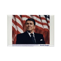 Reagan on Marx and Lenin Rectangle Magnet