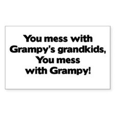 Don't Mess with Grampy's Grandkids Decal