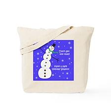 Tipsy Snowman Tote Bag