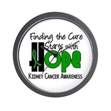 HOPE Kidney Cancer 4 Wall Clock