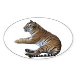 tiger7 Oval Sticker (10 pk)
