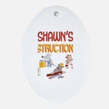 Shawn's Construction Co. Oval Ornament