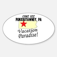 Come See Punxsutawney, PA Vac Oval Decal