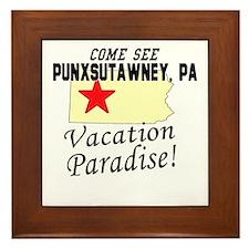 Come See Punxsutawney, PA Vac Framed Tile