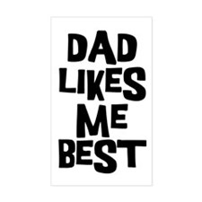 Dad Likes Me Rectangle Decal