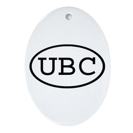 UBC Oval Oval Ornament