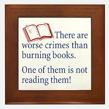 Book Burning - Framed Tile