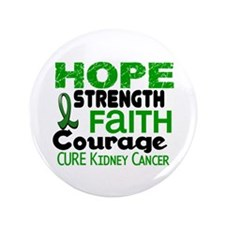 """HOPE Kidney Cancer 3 3.5"""" Button"""