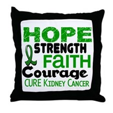 HOPE Kidney Cancer 3 Throw Pillow