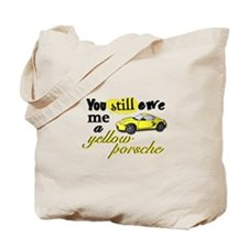 Yellow Porsche Tote Bag