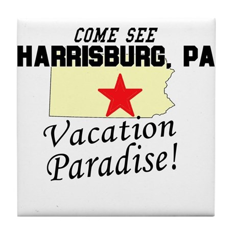 Come See Harrisburg, PA Vacat Tile Coaster