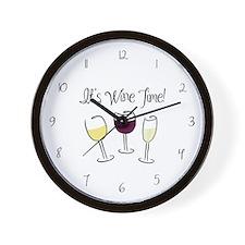 It's Wine Time Wall Clock