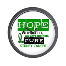 HOPE Kidney Cancer 2 Wall Clock