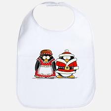 Mr. and Mrs. Claus Penguins Bib