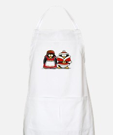 Mr. and Mrs. Claus Penguins BBQ Apron