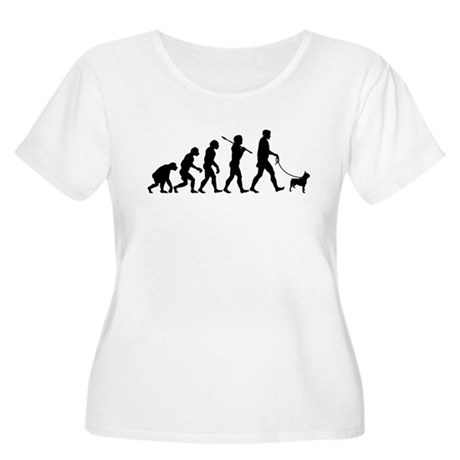 Boston Terrier Women's Plus Size Scoop Neck T-Shir