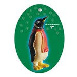 Whaddup? Penguin Xmas Oval Ornament