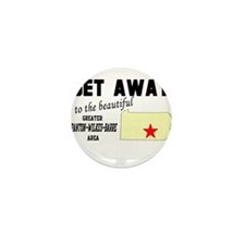 Get Away to the Beautiful Gre Mini Button (10 pack