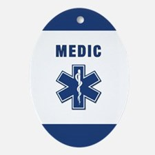 Medic and Paramedic Oval Ornament