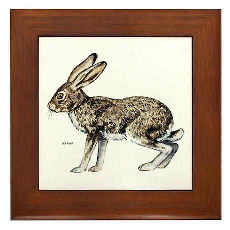 Jack Rabbit Framed Tile