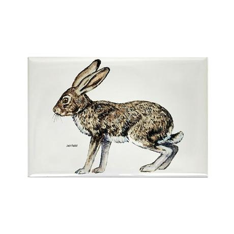 Jack Rabbit Rectangle Magnet