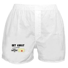 Get Away to the Beautiful Gre Boxer Shorts