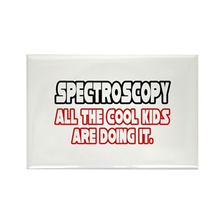 """Spectroscopy...Cool Kids"" Rectangle Magnet"