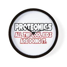 """""""Proteomics...Cool Kids"""" Wall Clock"""