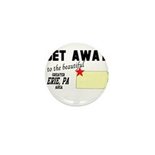 Get Away to the Beautiful Gre Mini Button (100 pac