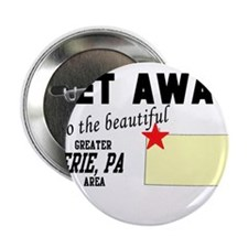 """Get Away to the Beautiful Gre 2.25"""" Button (10 pac"""