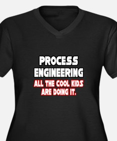 """""""Process Engineering...Cool"""" Women's Plus Size V-N"""