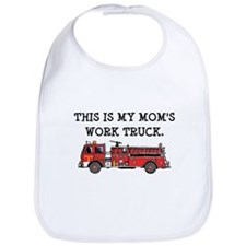 Mom's Fire Truck Bib