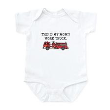 Mom's Fire Truck Infant Bodysuit