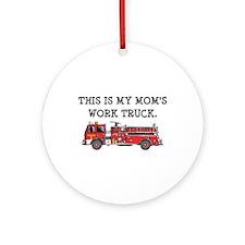 Mom's Fire Truck Ornament (Round)