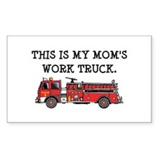 Mom's Fire Truck Rectangle Decal