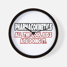 """Pharmacokinetics...Cool"" Wall Clock"