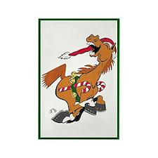 YeeHaw Christmas Horse Magnet