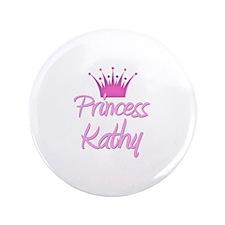"""Princess Kathy 3.5"""" Button"""