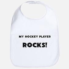 MY Hockey Player ROCKS! Bib