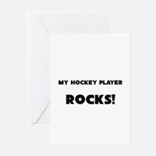 MY Hockey Player ROCKS! Greeting Cards (Pk of 10)