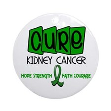 CURE Kidney Cancer 1 Ornament (Round)