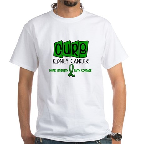 CURE Kidney Cancer 1 White T-Shirt